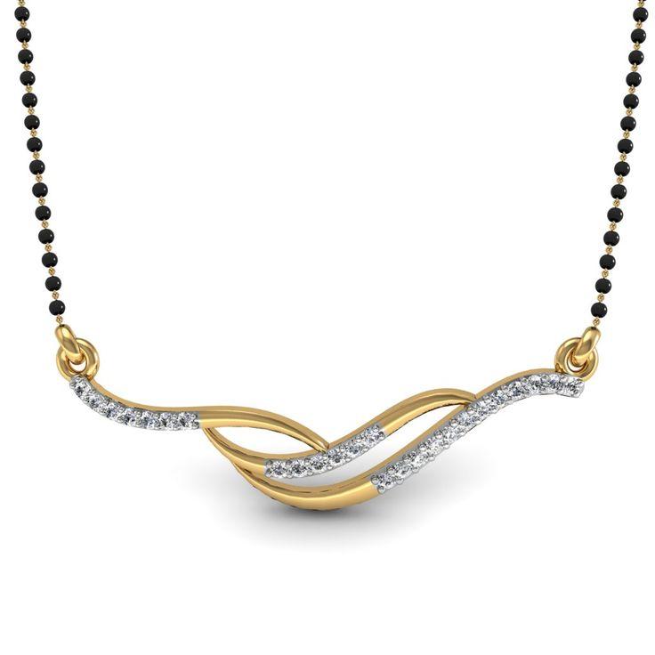 Diamond Mangalsutra Designs India | ... Jewel 92.5Kt Sterling Silver Certified Diamond Mangalsutra Design- 11