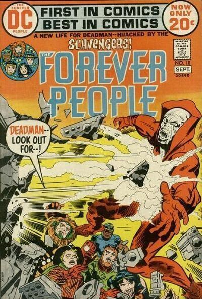 FOREVER PEOPLE 10, DEADMAN, JACK KIRBY, BRONZE AGE DC COMICS