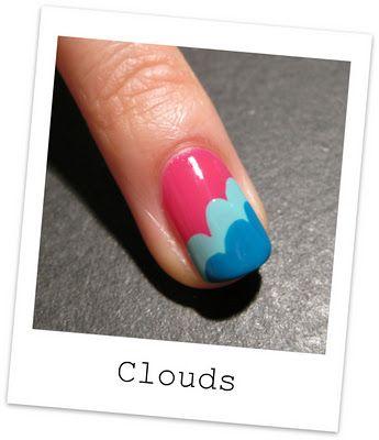 Nail clouds  http://nailside.blogspot.com/2012/01/tutorial-freehand-cloud-design.html