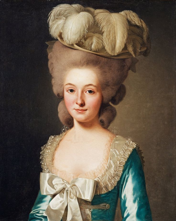 """Portrait of a French Lady, (called 'Mademoiselle de Bionville')"" (1780) by Alexander Roslin"