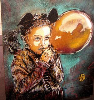 C215 (Christian Guémy) recently left some works in Paris, beautiful, amazing, great, are some of the adjectives that come to mind to define new stencils from one of my favorite artists. And of course, where you going Alice Christian ... but that as I talk to you tomorrow