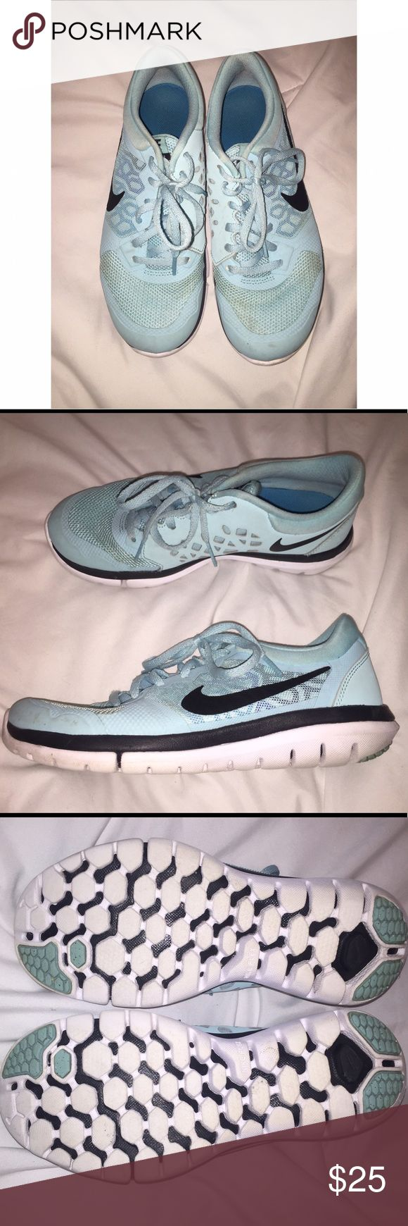 EUC Nike Tiffany Blue Flex Shoes SZ 7 Highly sought after Tiffany Blue Nike Flex running shoes! Slight wear, still have tons of life left! Never even broke them in. Nike Shoes Athletic Shoes