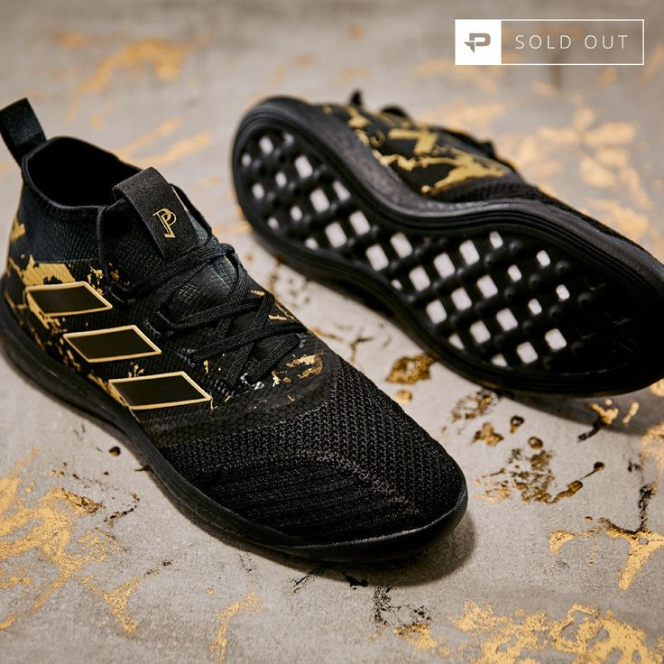 "PAUL POGBA ""TRIPLE BLACK"" MATTE GOLD ULTRA BOOST TRAINERS - UK 10 / US 10.5"