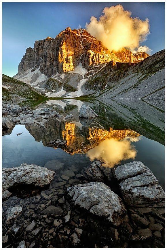 Astraka Peak & Dragon lake (Drakolimni) in Konitsa, Epirus, Greece.: