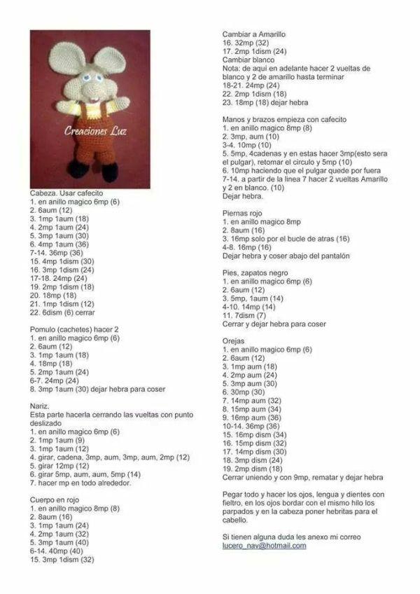 81 best Patrones De Croche images on Pinterest | Crochet baby ...