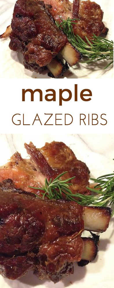 Maple Glazed Baby Back Ribs: a mingle of ribs roasting and sweet sugar ...