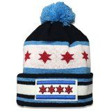 City of Chicago 'Super Flag' Pom Knit by ThirtyFive55: Make Sure You Show Everybody That Chicago Is Your… #Sport #Football #Rugby #IceHockey
