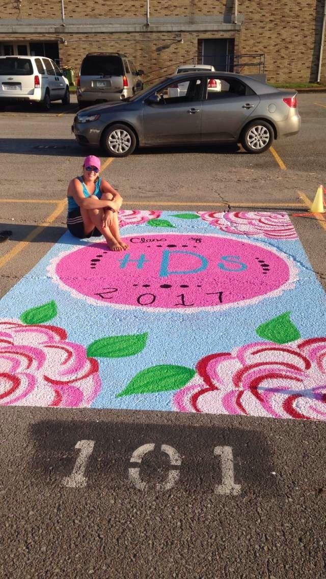 Senior painted parking spot