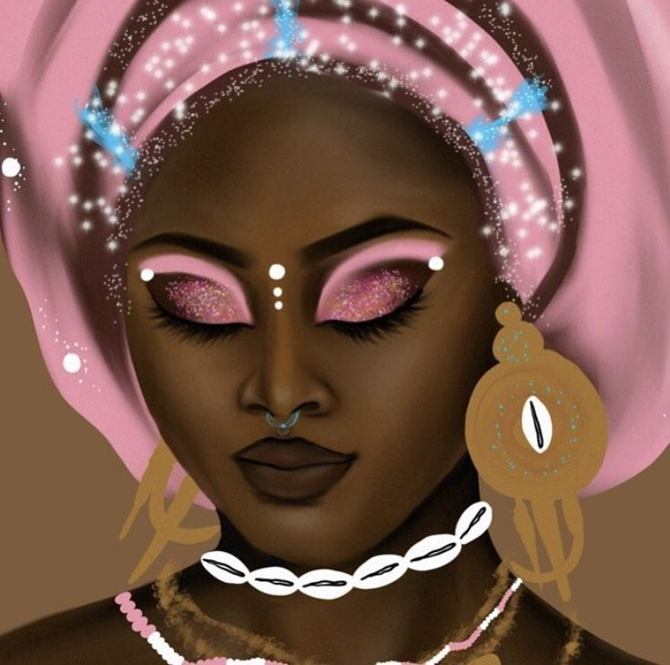 Close up of The Goddess Next Door: Obba Obba is an orisha celebrated in the Yoruba religion Ifa, as well Diasporic religions: Santeria, Candomble, Umbanda Her archetype includes Marriage, &...