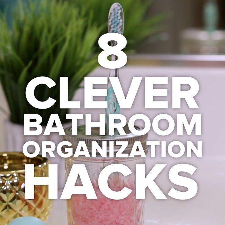 8 Clever Bathroom Organization Hacks // #organization #bathroom #hacks #storage #bathroomhacks