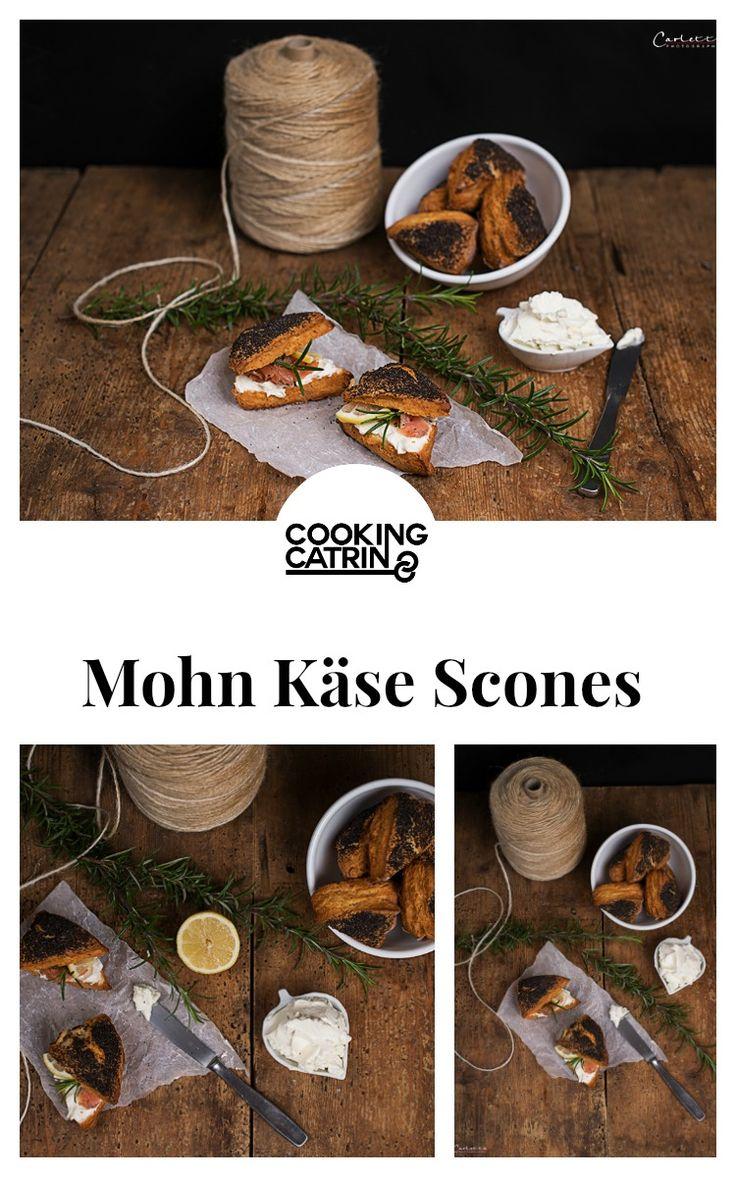 Scones, Mohn Scones, Käse Scones, Mohn Käse Scones, Lachs Scones, scones Rezept, scones recipe, poppyseed scones, cheese scones, salmon scones, poppyseed cheese scones, christmas starter, christmas recipe, snack, brunch, weihnachts rezept, vorspeise...http://www.cookingcatrin.at/mohn-kaese-scones-mit-nonno-nanni-lachsfuellung/