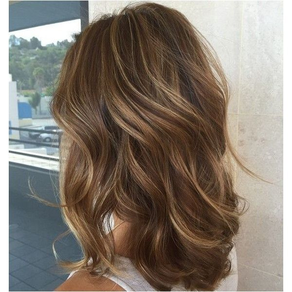 35 Light Brown Hair Color Ideas: Light Brown Hair with Highlights and... ❤ liked on Polyvore featuring beauty products, haircare, hair styling tools and hair