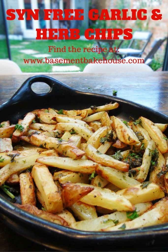 Syn Free Garlic & Herb Chips - Slimming World - Syn Free - Healthy Baking…