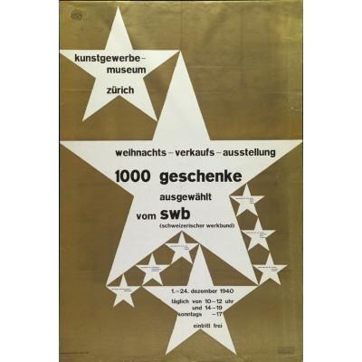 Max Bill Kunstgewerbemuseum Zürich - Weihnachts-Verkaufs-Ausstellung - 1000 Geschenke ausgestellt vom SWB