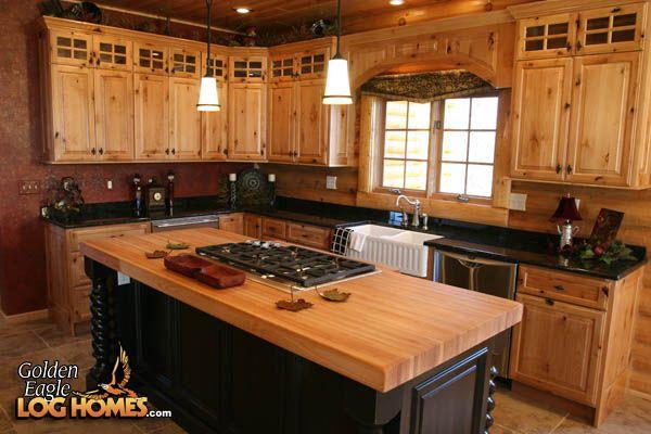 a frame cabin kitchen design   LOG HOME KITCHEN PHOTOS « KITCHEN DESIGNS