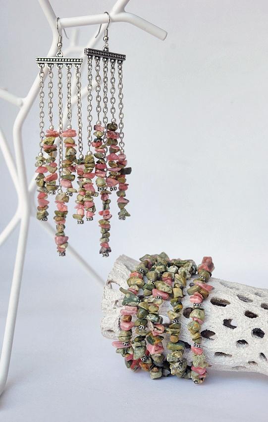 Bohemian gemstone earrings and bracelet $90  www.GemBoutique.ca  www.etsy.com/shop/GemBoutiqueOnline
