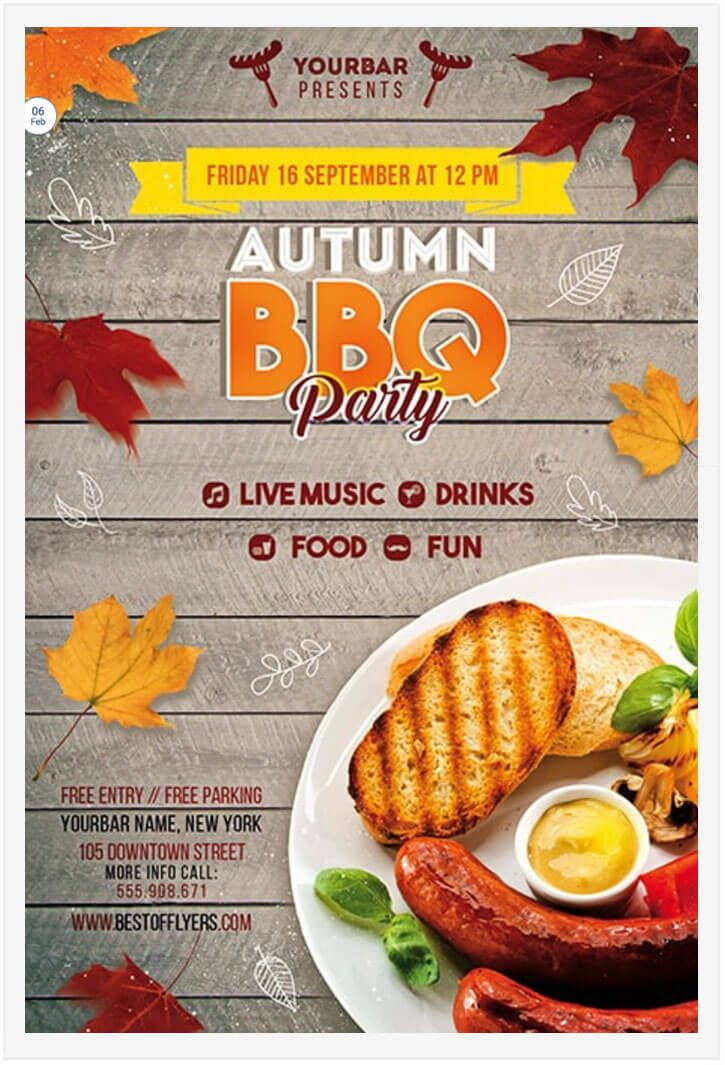 15 free barbecue flyer templates in psd vector ai design desk