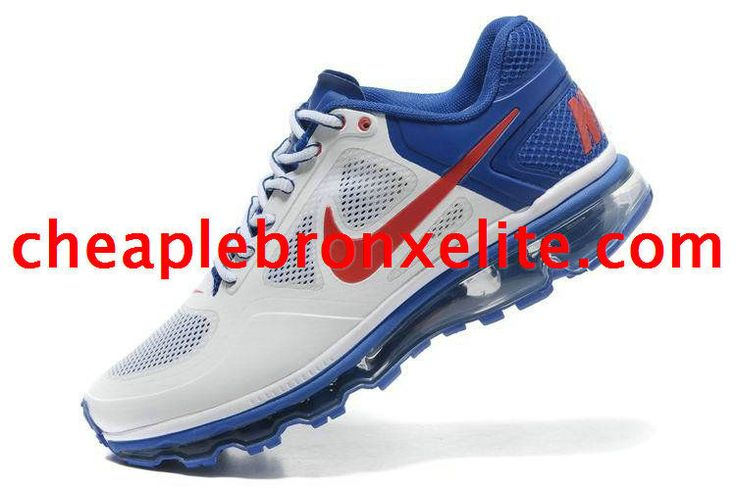 White and Red Nike Air Trainer 1.3 Max Breathe Mens Royal Blue