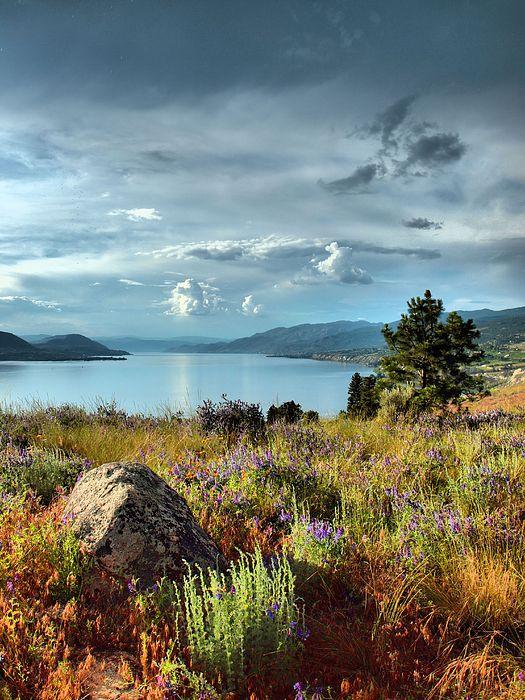 Okanagan Lake in the Spring