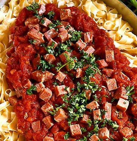 Nudlar med skinksås | Recept från Köket.se