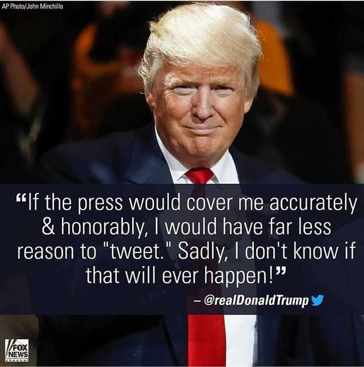 Press is dishonest!! Keep tweeting Trump. We'd rather hear it from you anyway! Mainstream Media is owned by the bilderberg group who funded hillary clinton and has an agenda!