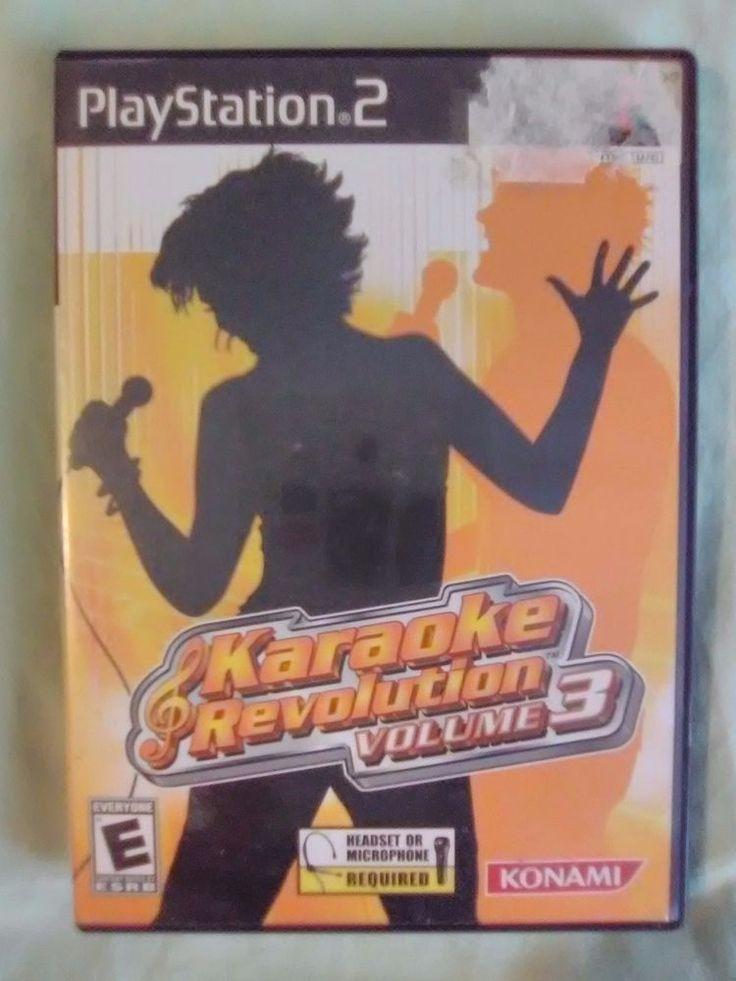 Karaoke Revolution Vol. 3 Playstation 2 Game PS2