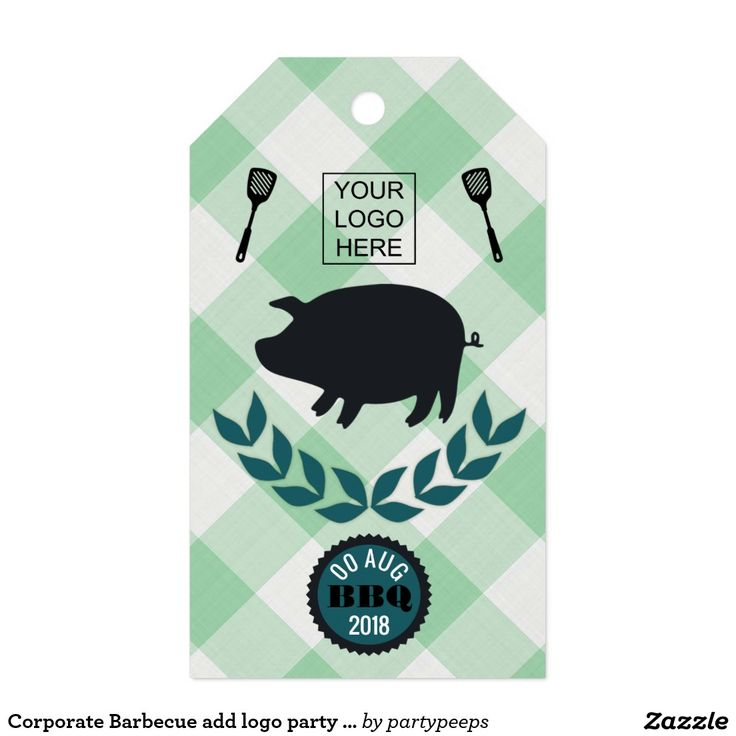 Corporate Barbecue add logo party favor Gift Tags