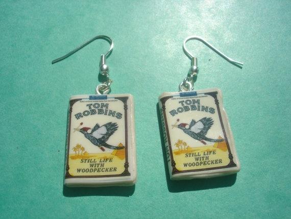 still life with woodpecker  book miniature by andreachalari, $12.00