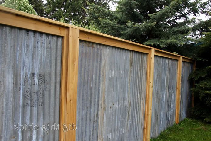 Breathtaking Corrugated Metal Fence Designs Inspiration