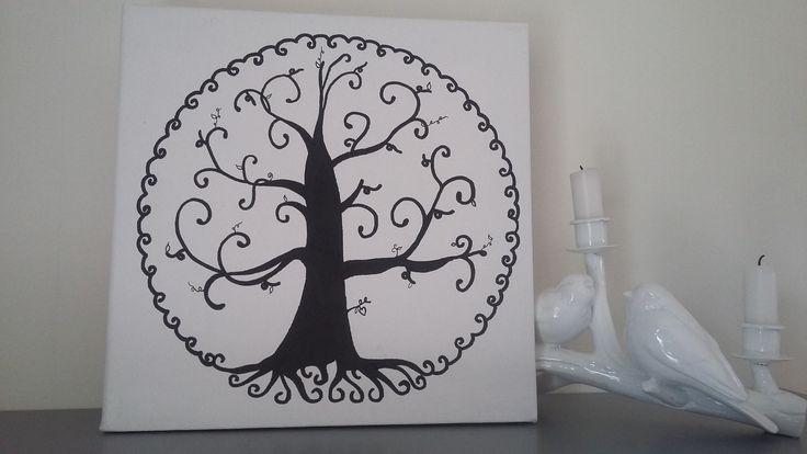 """arbre à empreintes """" arbre de vie"""" pour environ 50 personnes : Décorations murales par stefebricole"""