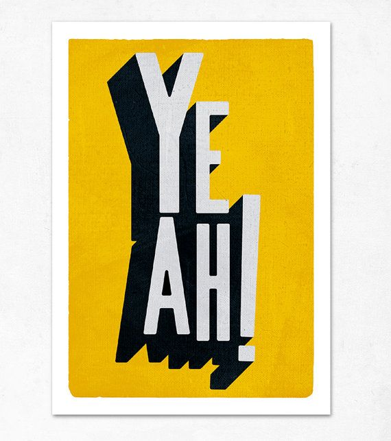Yeah, yellow version. Large illustration print 11.70 x 16.50 (A3). (Special WINTER offer: Get a poster for free)