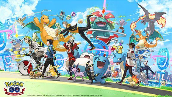 Celebrating the anniversairy of Pokemon GO !