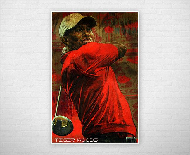Excited to share the latest addition to my #etsy shop: Tiger Woods Poster or Canvas | Limited Edition Tiger Woods Poster or Canvas http://etsy.me/2BNy2Do #art #print #digital #red #birthday #christmas #poster #posters #canvas