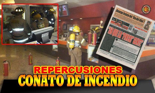 Repercusiones sobre el conato de incendio en el cine