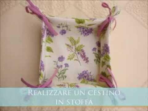 tutorial cestino in stoffa portapane portalavette portaoggetti - YouTube