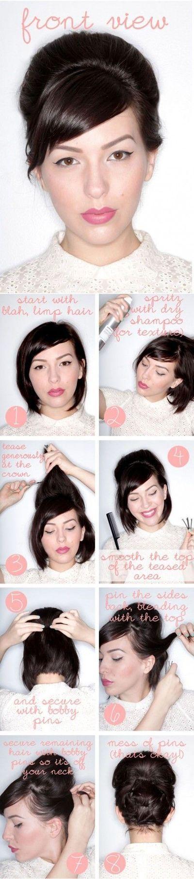 Tutorial opsteekkapsel voor kort haar