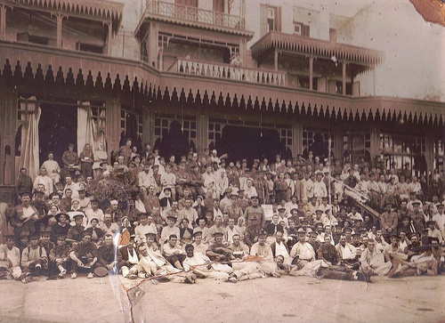 Wounded Australian soldiers at Egypt's Mena Hospital in 1915