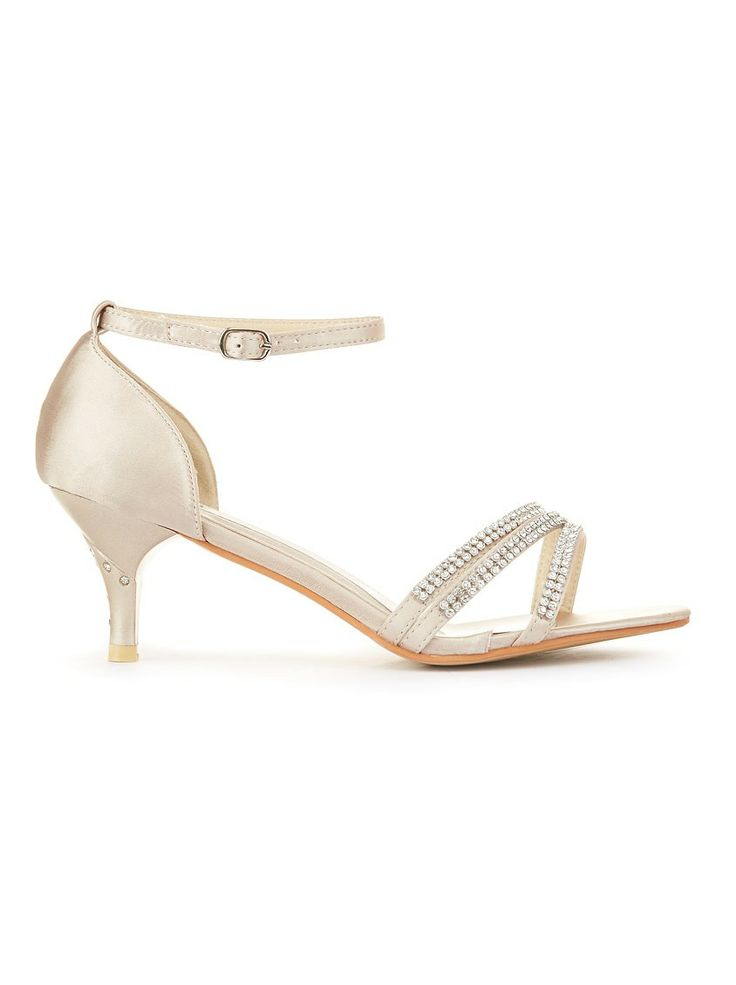 Midi-heels with diamantéstraps