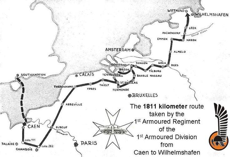 Polish 1st Armoured Brigade plan.