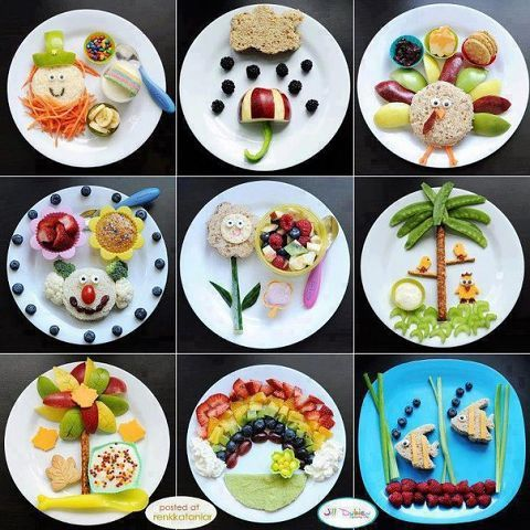 Making food fun for kids - adorable! If you need help translating this site, use Chrome as your browser, open the link and in the URL bar link toward the right, click on the icon and it will translate the page into English. Ingenious!