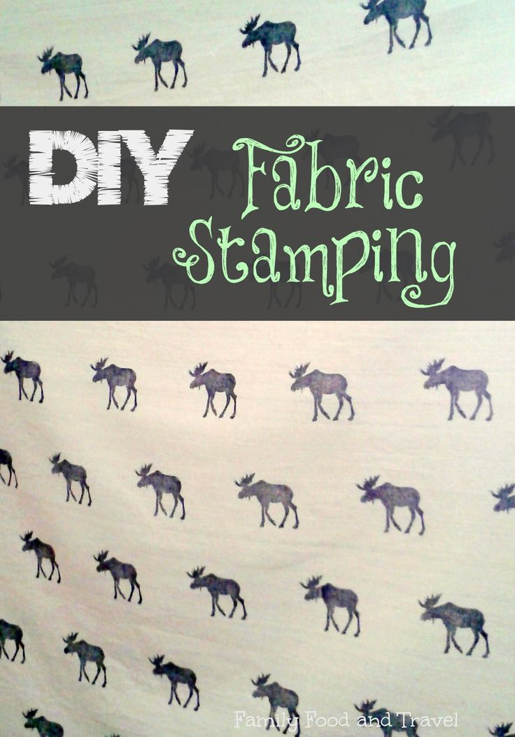 Tutorial on how to do DIY Fabric Stamping #crafts #DIY #fabric