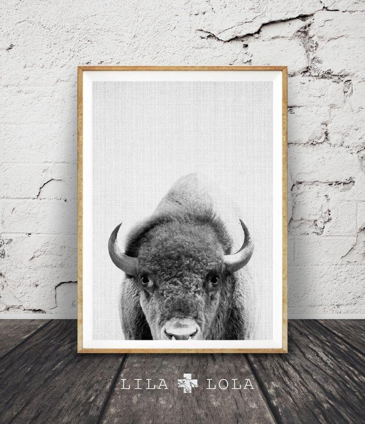 Buffalo Print, Bison Wall Art, Black and White Buffalo, Modern Minimal, Grey Decor, Animal Photography, Printable Art, Instant Download by lilandlola on Etsy https://www.etsy.com/listing/267558590/buffalo-print-bison-wall-art-black-and
