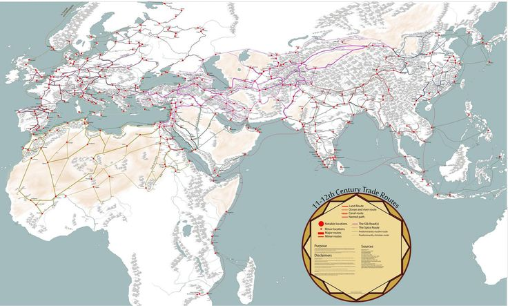Medieval Trade Routes and Geography by Martin Månsson #map #trade #medieval #silkroad #world