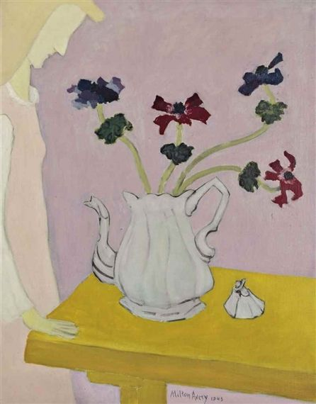Artwork by Milton Avery, Anemones, Made of oil and pencil on canvas