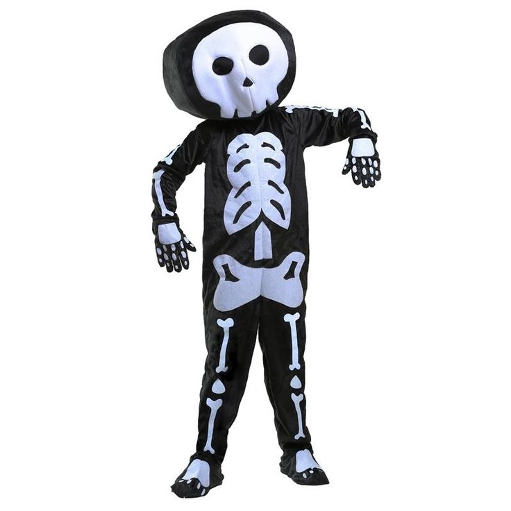 Scary And Lovely Boys Plush Skeleton Less Like Grim Reaper Rocking Halloween Party Costume With Soft Bigger Stuffed Headpiece
