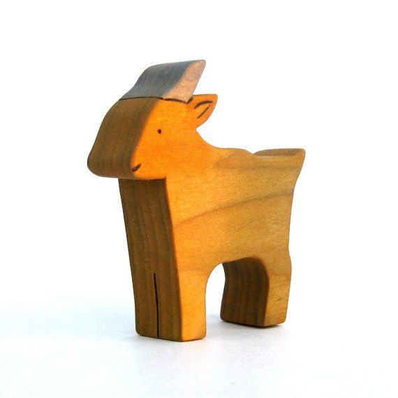 Goat Toy - Childrens Toy - Waldorf Toy - Wood Toy via Etsy