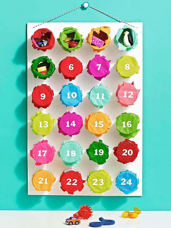 Punchy advent calendar for a Christmas countdown #advent #christmas #ParentsCrafts
