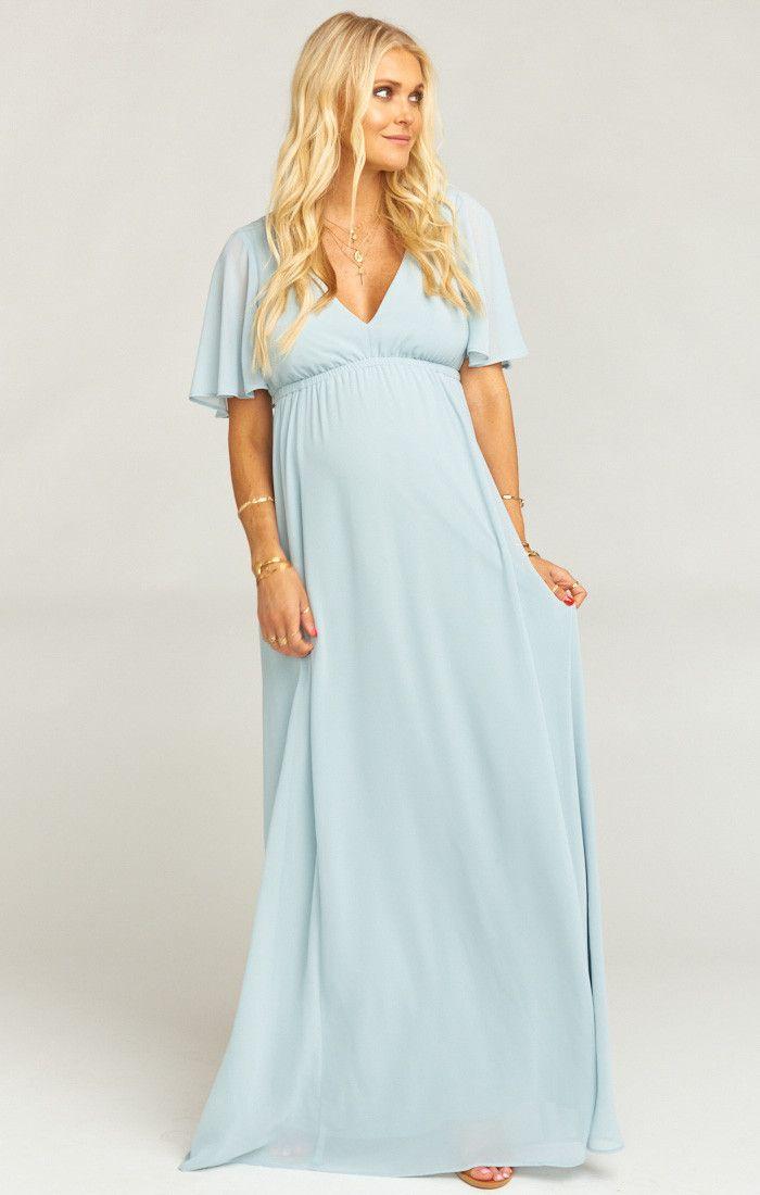 837f338a7b13 Emily Maxi Dress ~ Steel Blue Chiffon | Wedding with Babe | Dresses ...