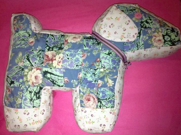 My first ever order pink and purple patchwork dog