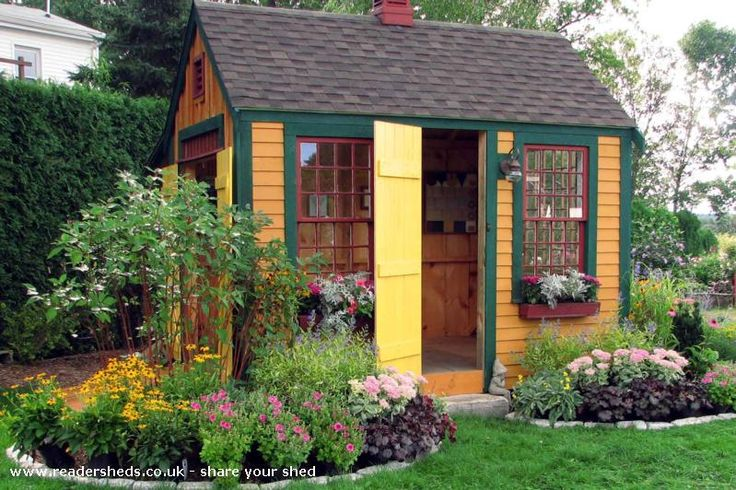 workshopstudio from massachusetts usa readershedscouk shedoftheyear cottage garden shedscottage gardensgarden